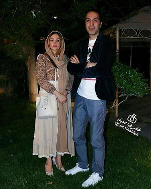 عکس امير مهدي ژوله با همسرش | مجله اينترنتي هلو