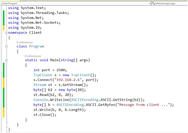 کدنویسان - نمونه برنامه کلاینت