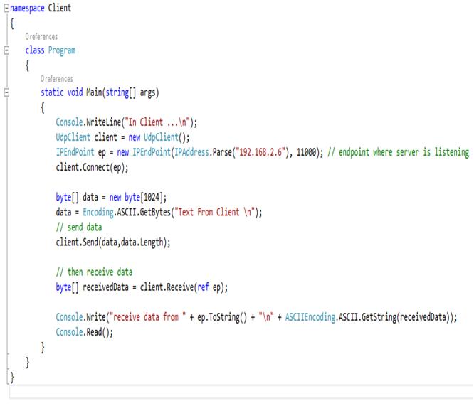کدنویسان-برنامه کلاینت اتصال بدون استفاده از سوکت