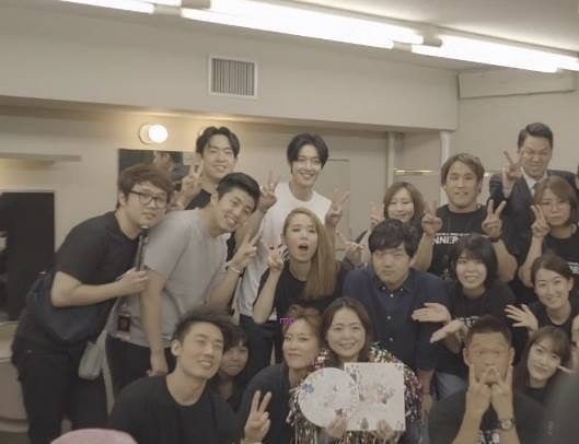 Kim Hyun Joong and Inner Core tour team 2017.08.23