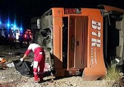 علت قطعي واژگوني اتوبوس دانش آموزان در شمال فارس
