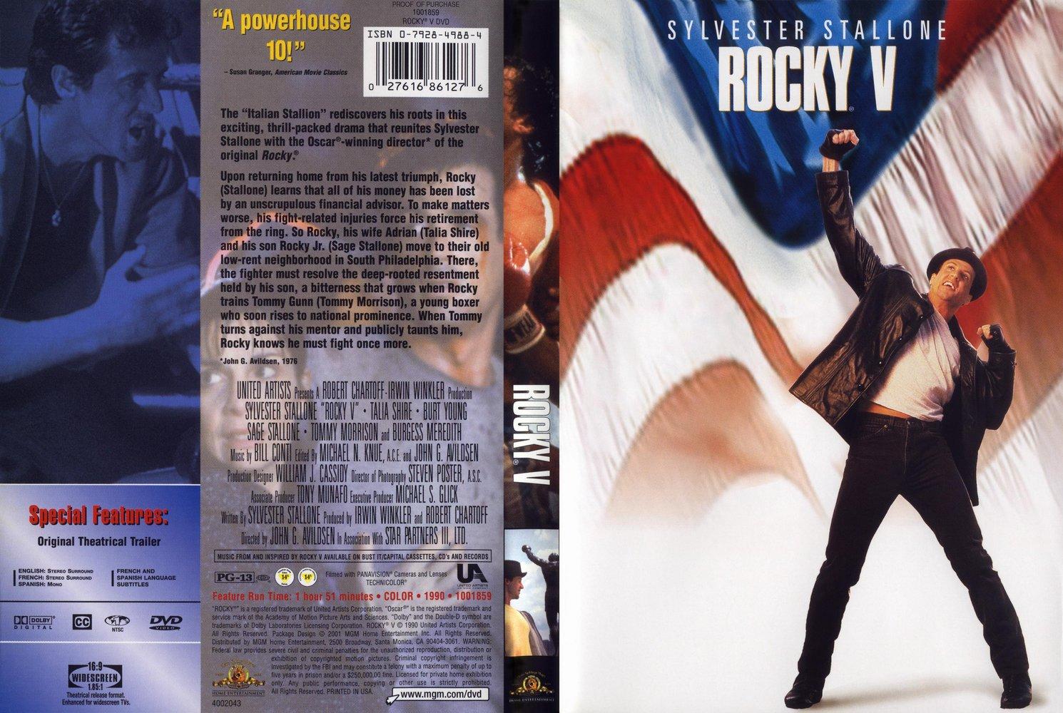 کاور فیلم Rocky V