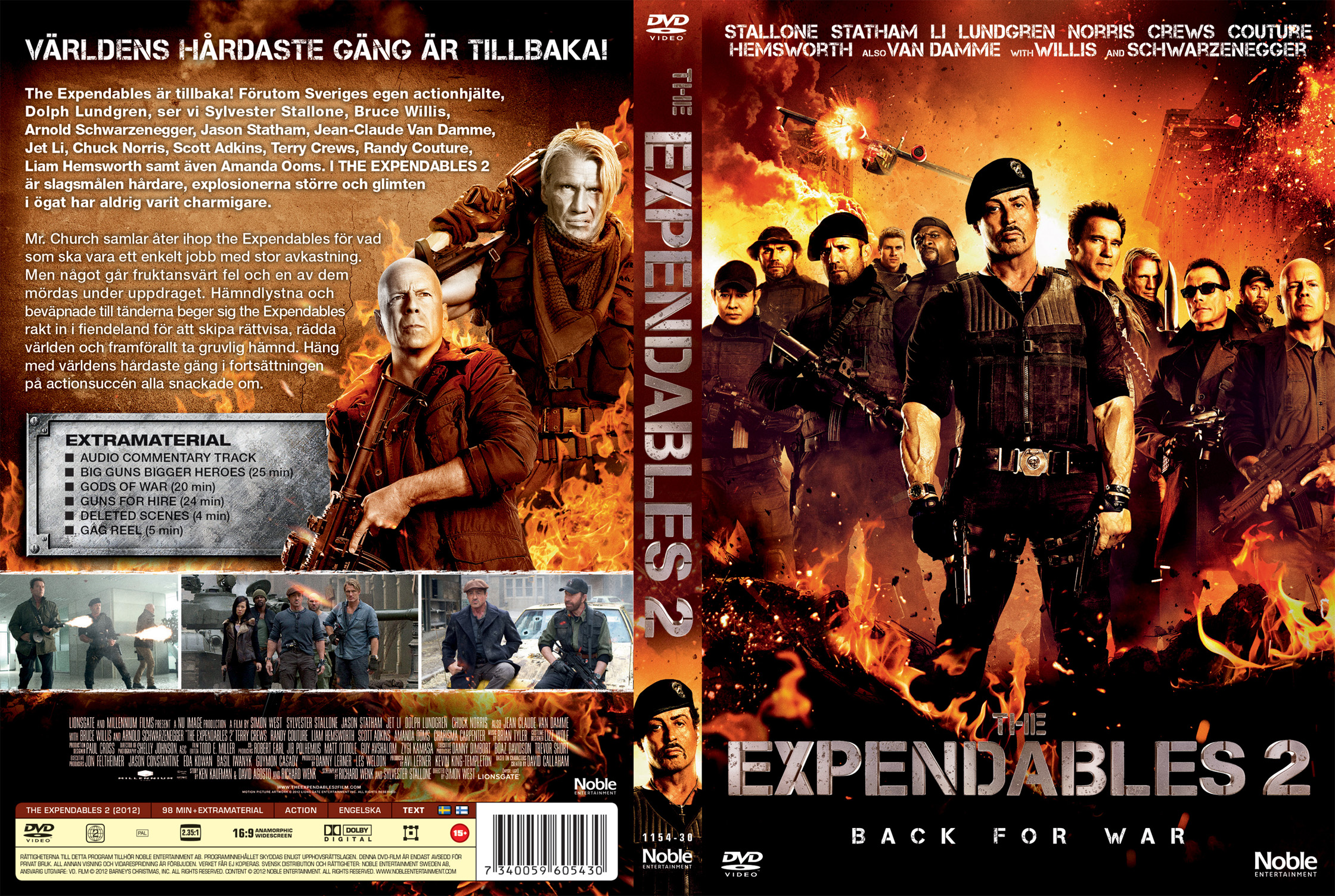 کاور فیلم The Expendables 2