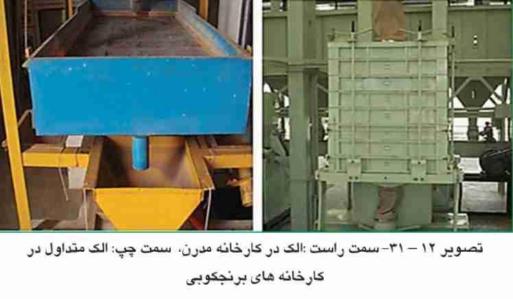 الک در کارخانه مدرن و الک متداول در کارخانه های برنج کوبی