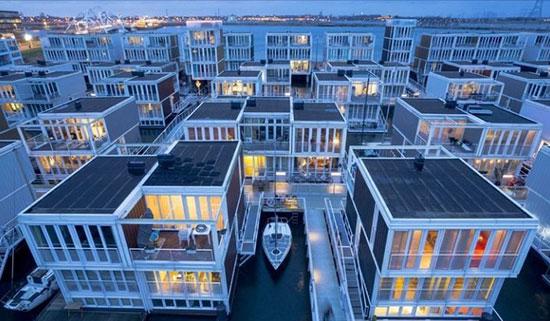 خانههای شناور هلند، شگفتی معماری شهری