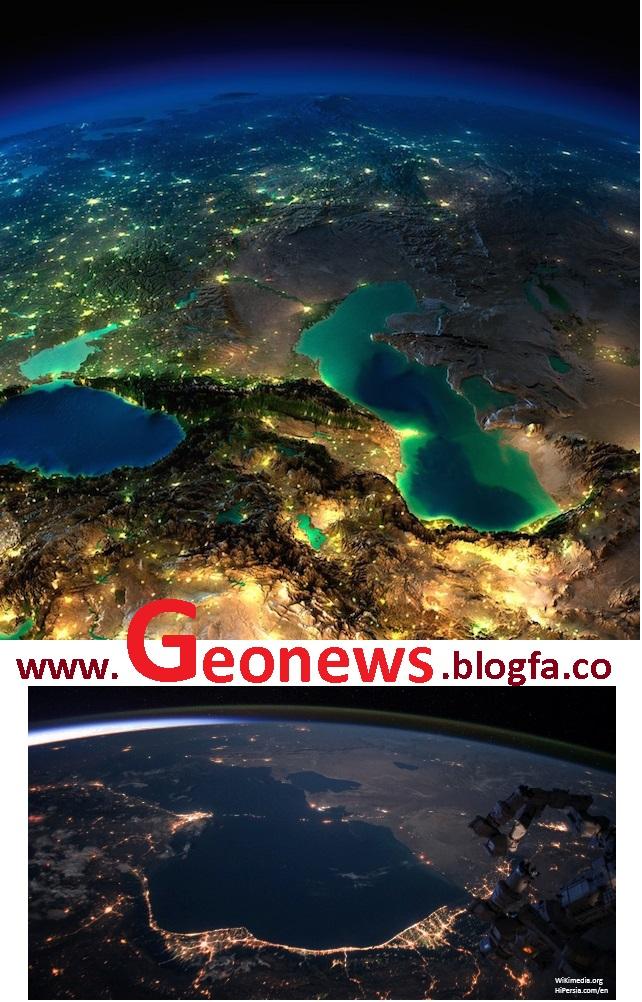 RS+سنجش از دور+تصویر ماهواره ای+دریای خزر