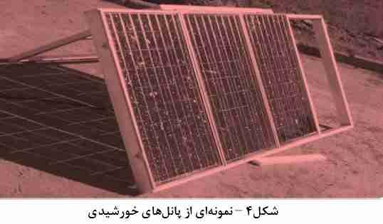 نمونه ای از پنل های خورشیدی مورد استفاده برای مهار انرژی خورشیدی
