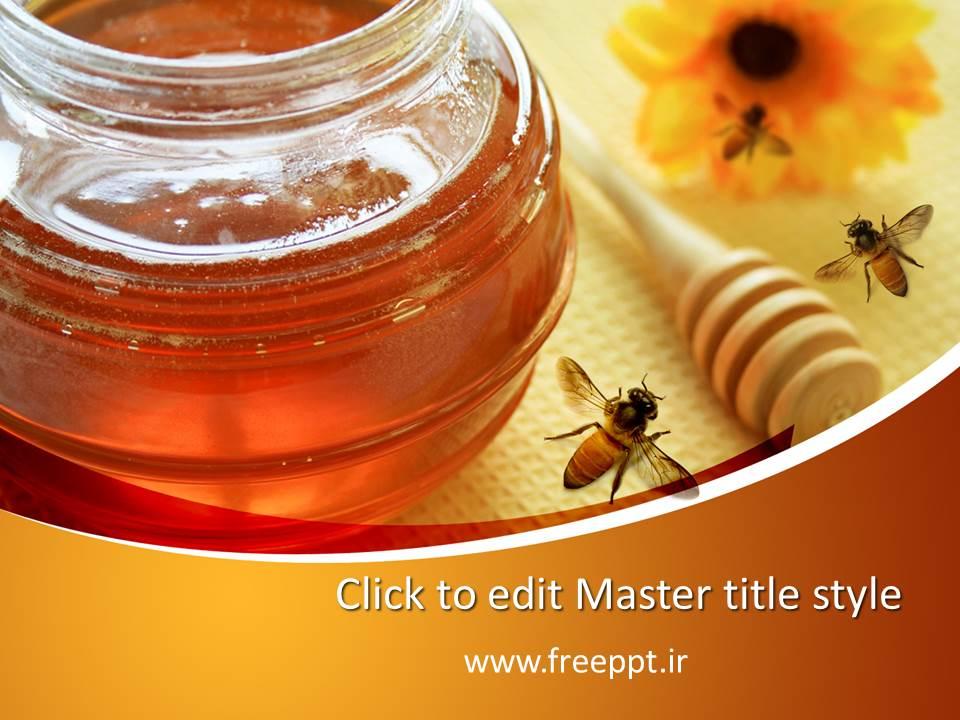 قالب پاورپوینت عسل طبیعی