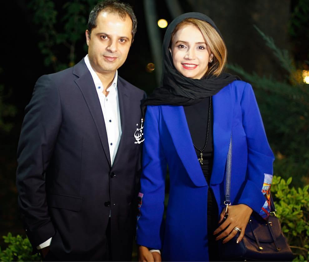عکس شبنم قلی خانی با همسرش