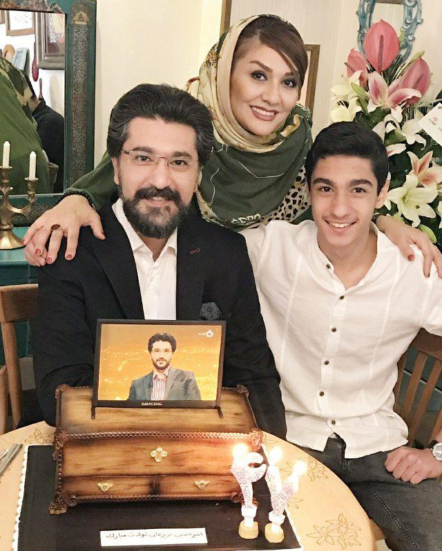 امیرحسین با مدرس با همسر و پسرش