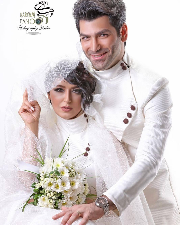 عکس فریبا طالبی با همسرش