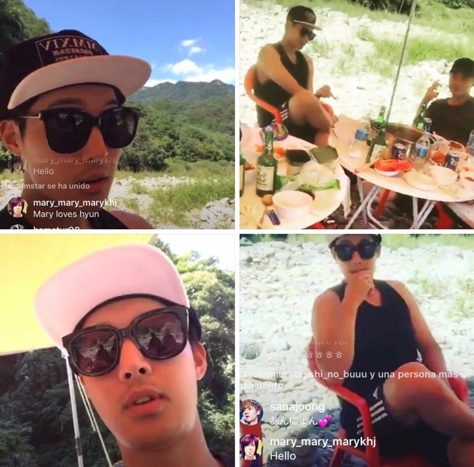 Kim Hyun Joong In the IG Live friend of KHCh was broadcast - 2017.09.03