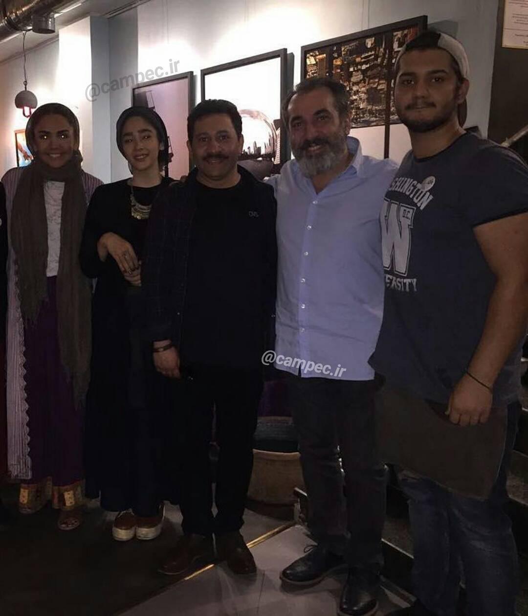 عکس جدید سیامک انصاری با همسرش و سروش جمشیدی