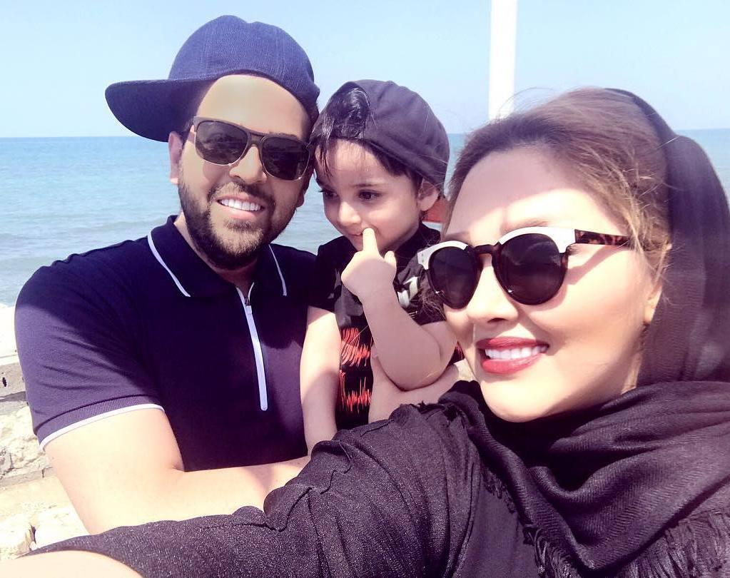 عکس شخصی عماد طالب زاده با همسر و فرزندش