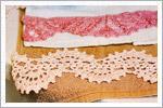حاشیه قلاب بافی برای رومیزی