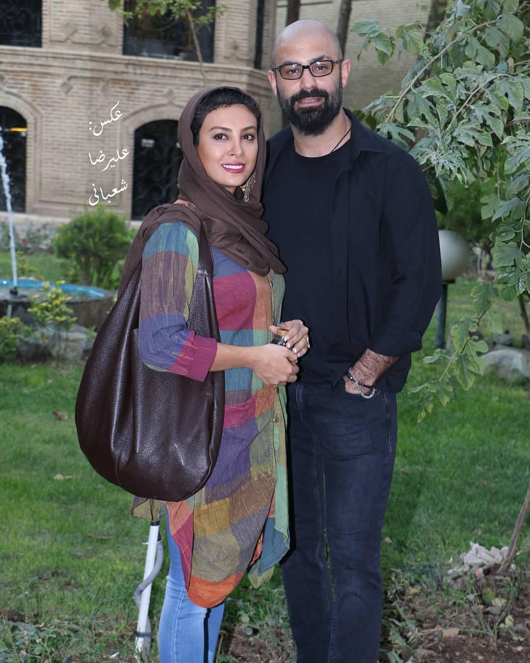 عکس جدید حدیثه تهرانی با همسرش
