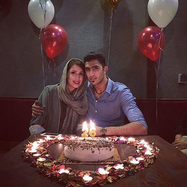 مجتبی میرزاجانپور با همسرش