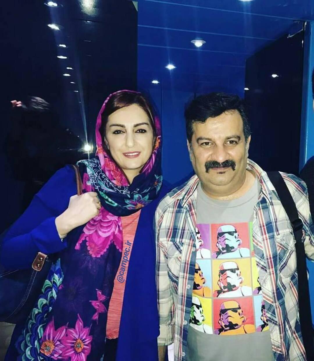 عکس شقایق دهقان و همسرش محراب قاسمخانی