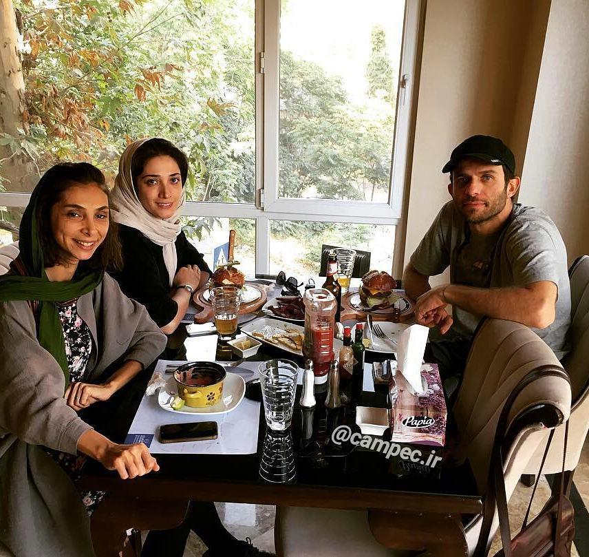 عکس شخصی بابک حمیدیان با همسرش مینا ساداتی