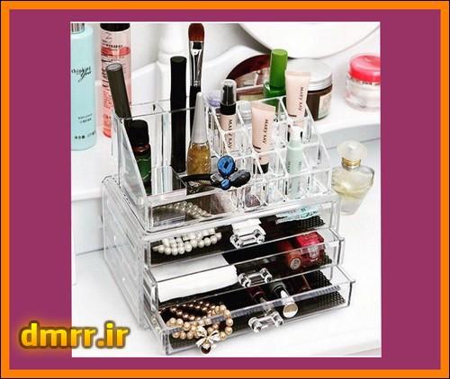 باکس لوازم آرایش خانگی طرح شفاف