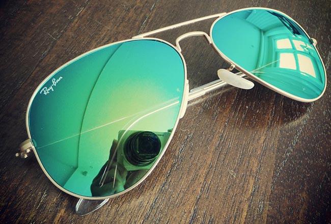 خرید عینک ریبن 3025 شیشه سبز