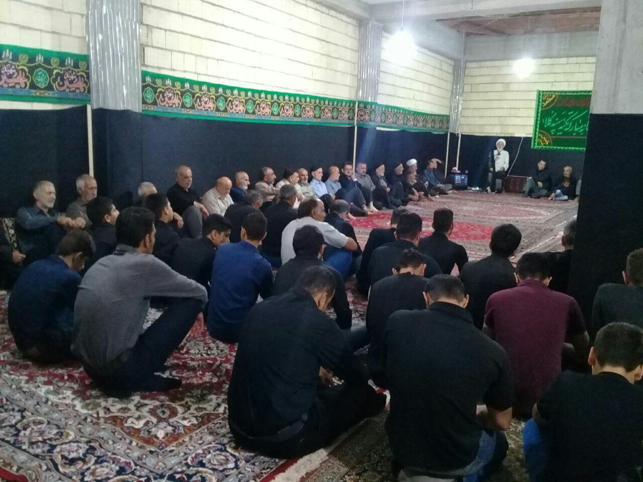 مراسم افتتاح تکیۀ ببخیل دارابکلا. غروب هفتم محرّم (5 مهر 1396) عکاس: رنگین کمان
