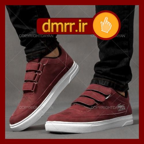 کفش اسپرت مردانه بندهای چسبی رنگ جیگری