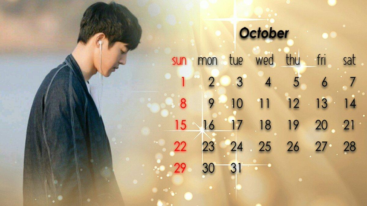 Calendar of October 2017
