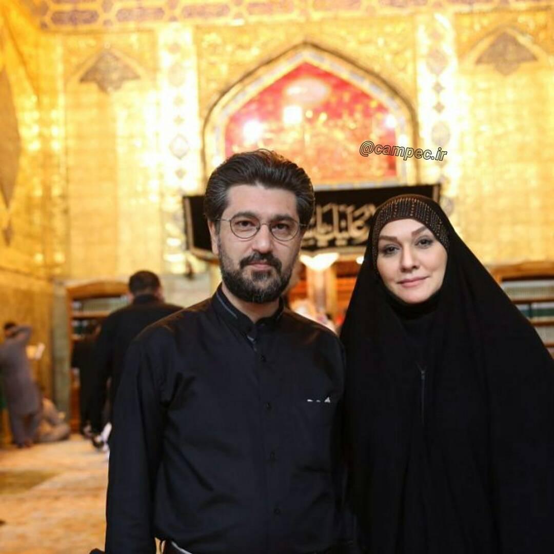 امیرحسین مدرس و همسرش در نجف