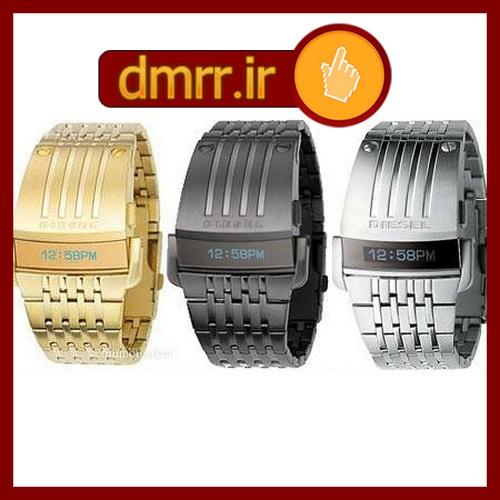 ساعت مچی فلزی دیزل در سه رنگ نقره ای طلایی مشکی