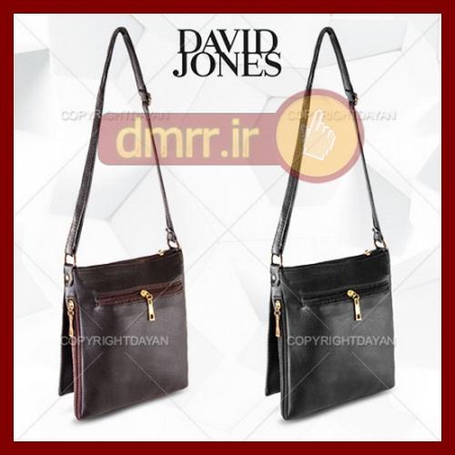 کیف زنانه چرم زیپ دار نایک رنگ مشکی قهوه ای