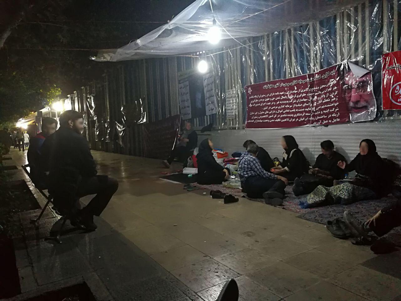 چهارمین روز تجمع سهامداران در تهران
