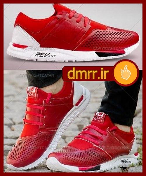 خرید کفش ورزشی اسپرت مردانه قرمز زیر سفید
