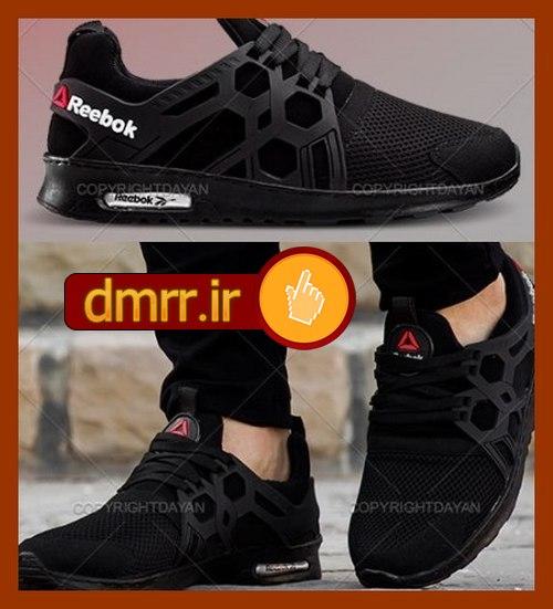خرید ارزان کفش دور دوزی شده مشکی مردانه اسپرت 1396