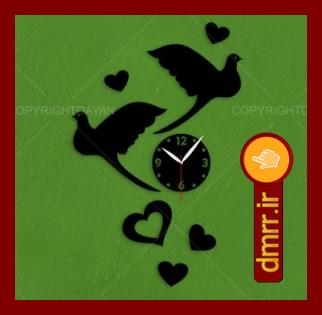 ساعت دیواری مناسب برای کادو عروس و داماد و نامزدی