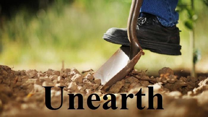 کشف – Unearth– آموزش لغات کتاب ۵٠۴ – English Vocabulary – کدینگ لغات ۵٠۴