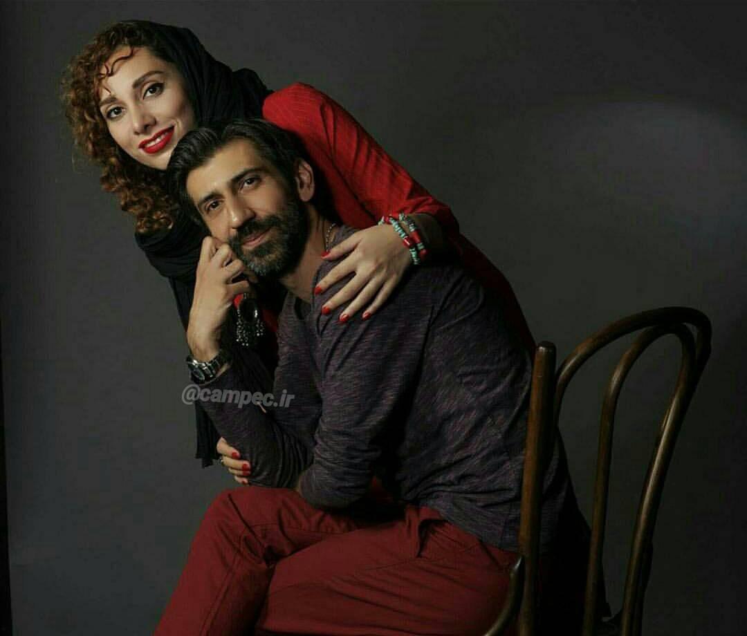 سینا رازانی با همسرش