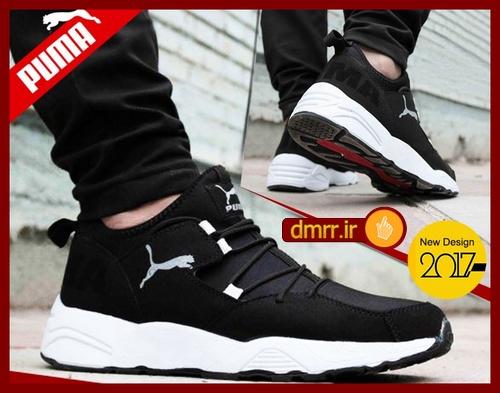 کفش مردانه PUMA پوما زیره سفید رویه مشکی مردانه