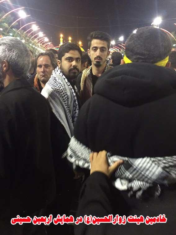 خادمین هیئت زوارالحسین در همایش بزرگ پیاده روی اربعین حسینی