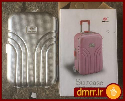 جعبه جواهرات طرح چمدان کوکی بدون نیاز به برق و باطری