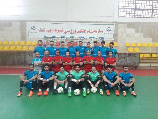 پیروزی تیم فوتسال آقایان شهرداری رشت در مقابل رعد پدافند اصفهان