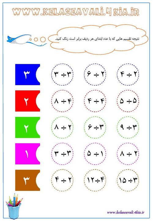 آموزش تقسیم اعداد ریاضی