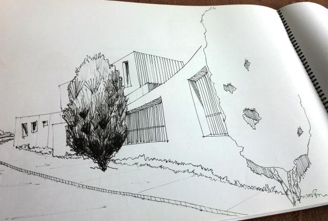 آلبوم آماده اسکیس های درس بیان معماری-5