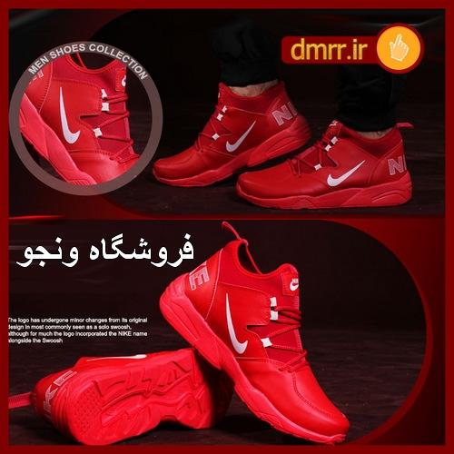 کفش اسپرت پسرانه رنگ تمام قرمز مارک نایک