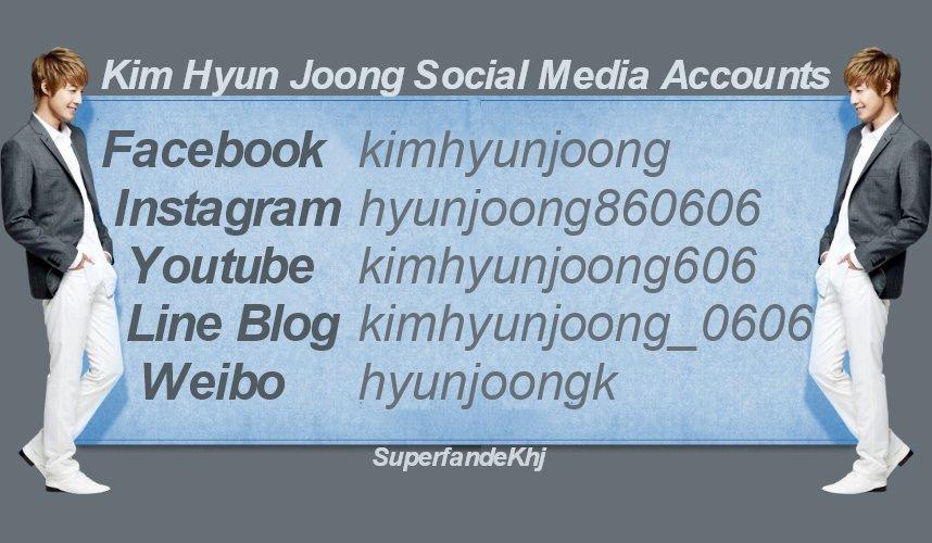 Kim Hyun Joong Social Media Accounts