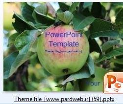 قالب پاورپوینت سیب -درخت