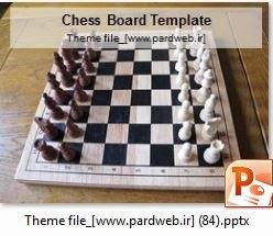 قالب پاورپوینت شطرنج ورزشی