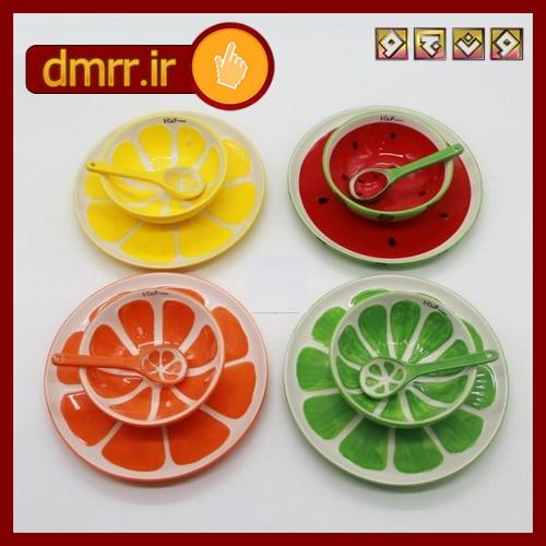 ظروف میوه ای سرامیک هندوانه  پرتقال لیمو طالبی
