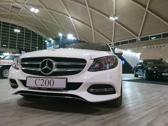 مرسدس بنز C200 در نمایشگاه خودروی تهران