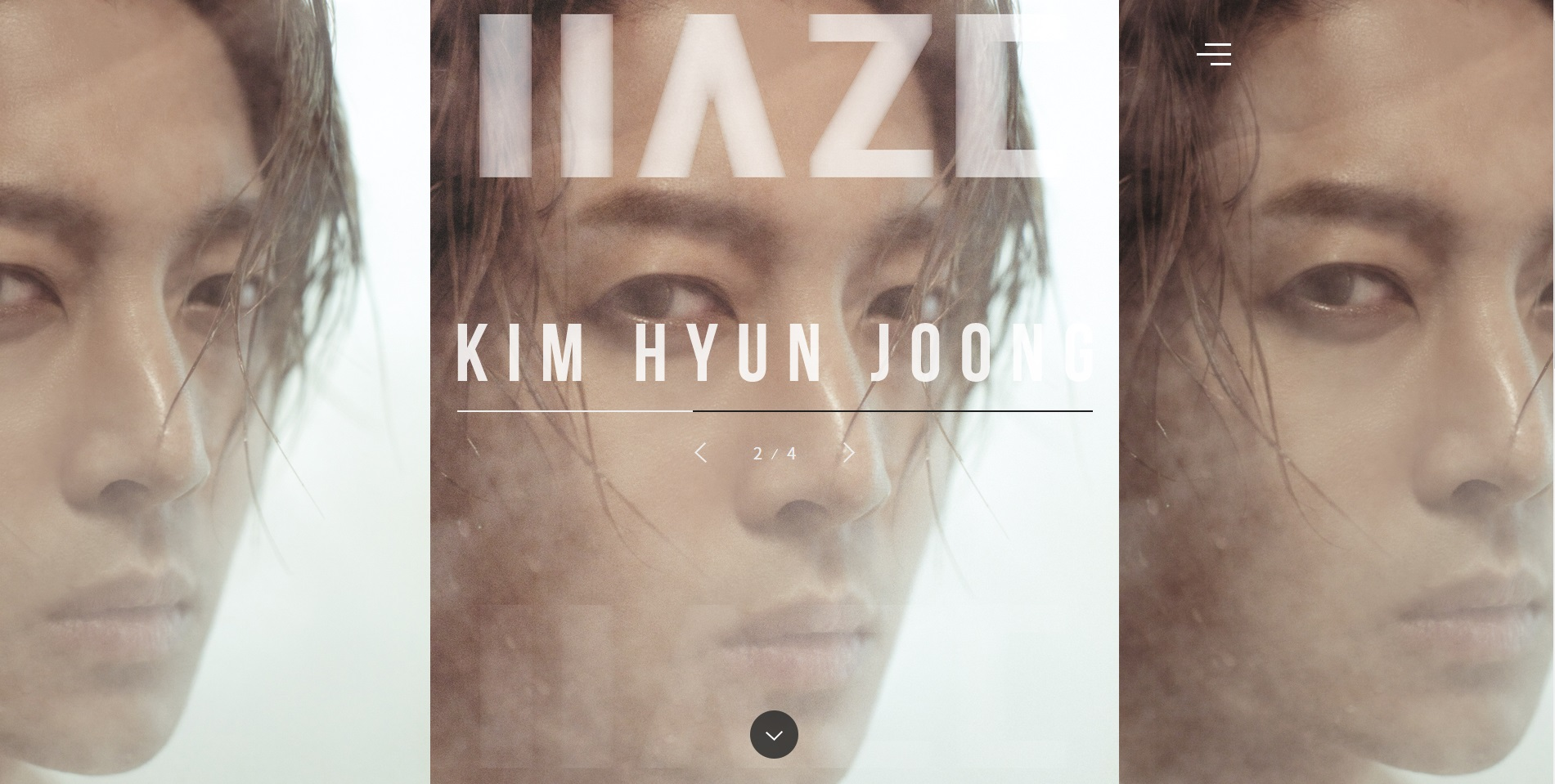 [Photo] Kim Hyun Joong Official Site ~ Homepage Has Changed [2017.11.29]